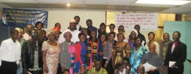 ECWA Chicago celebrating the graduation of Rebecca Laudarji May 6th 2012