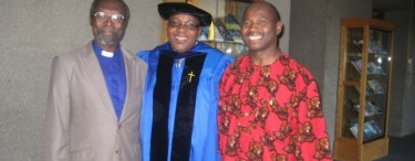 Rev. Laudarji, Rev. Gajere & Rev. Bwanhot at Rev. Dr. Ishaya Gajeres graduation May 13th 2012