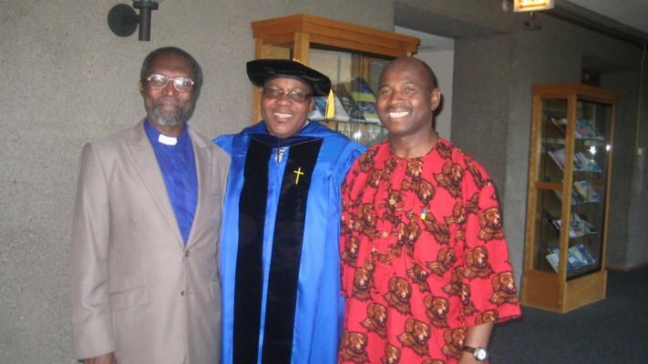 Rev. Laudarji, Rev. Gajere & Rev. Bwanhot at Rev. Dr. Ishaya Gajeres graduation May 13th 2012